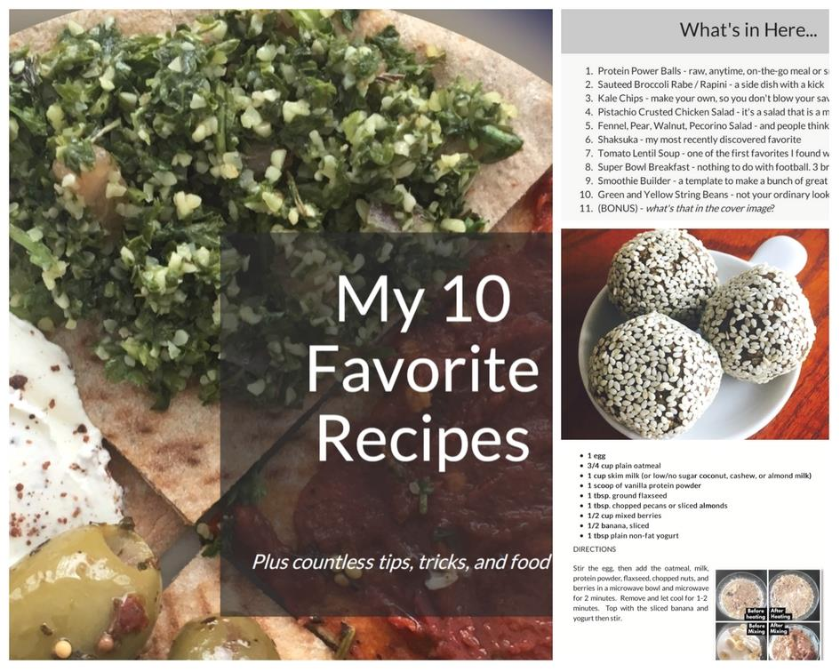 A preview of what's inside this recipe e-book